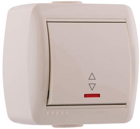 Выключатель LEZARD 710-0300-114 проходной подсветка наруж.проводки серии Ната белый