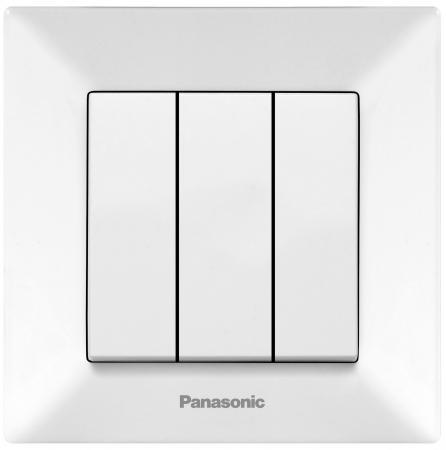 Выключатель PANASONIC WMTC0015-2WH-RES Arkedia 3кл белый удлинитель panasonic wltb0425 2wh res
