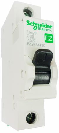 Выключатель автоматический Schneider Electric EASY9 ВА 1П 20А C 4.5кА 1DIN 1полюс автомат 1p 20а тип с 4 5ка schneider electric easy9