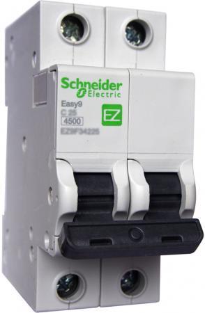 Выключатель автоматический Schneider Electric EASY9 ВА 2П 25А C 4.5кА 2DIN 2полюса 82х36мм
