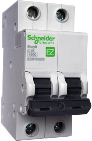 Выключатель автоматический Schneider Electric EASY9 ВА 2П 32А C 4.5кА 2DIN 2полюса 82х36мм автомат 1p 20а тип с 4 5ка schneider electric easy9