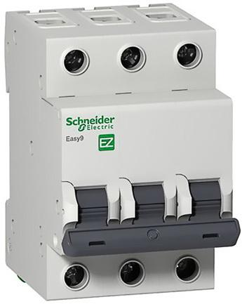 Выключатель автоматический Schneider Electric EASY9 ВА 3П 32А C 4.5кА 3DIN 3полюса 82х54мм автоматический выключатель tdm ва47 63 3р 32а sq0218 0022