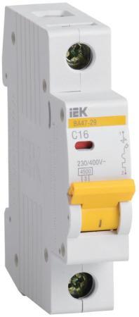 Выключатель автоматический модульный ИЭК 1п C/ 10А ВА 47-29 MVA20-1-010-C автоматический выключатель tdm ва47 29 4р 2а 4 5ка в sq0206 0050