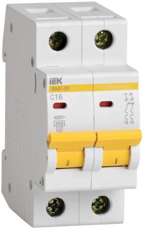 Выключатель автоматический модульный ИЭК 2п C/ 32А ВА 47-29 MVA20-2-032-C автоматический выключатель tdm ва47 63 2р 32а sq0218 0013