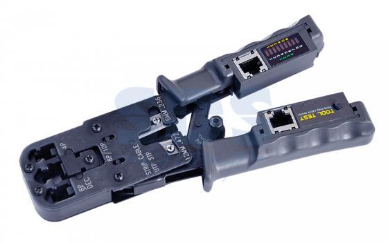 Кримпер-тестер кабеля 8p8c/6P6C/6P4C REXANT клещи обжимные nikomax 3 гнезда торцевой для rj45 8p8c rj12 6p6c rj11 6p4c 4p4c 4p2c dec 6p6c