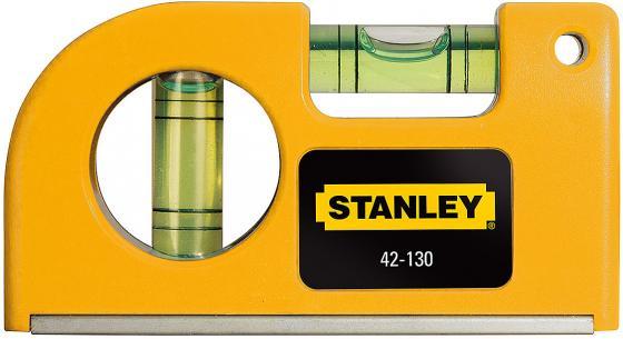 Уровень STANLEY 0-42-130 87мм 0.5мм/м 2 глазка магнит уровень stanley 42 076 20 48 1220mm