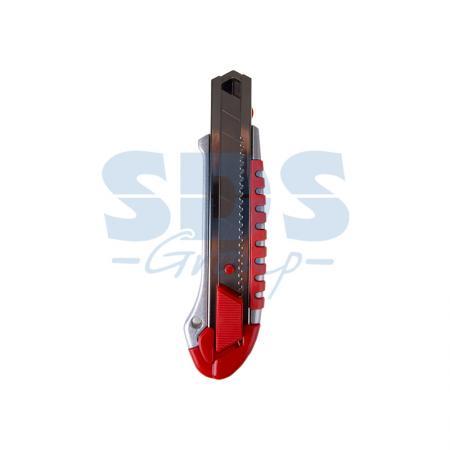 Фото - Нож с сегментированным лезвием 25 мм, металлический обрезиненный корпус, с дополнительным замком на лезвии Rexant тестер пробник rexant r 19 190 мм