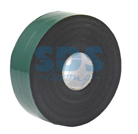 Двухсторонний скотч, зеленого цвета на черной основе, 30мм, 5метров REXANT двухсторонний скотч прозрачный 12мм 5м rexant