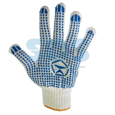 Фото - Перчатки Х/Б с покрытием ПВХ (Лидер) белые перчатки манипула антистатик нейлоновые антистатические белые без пвх
