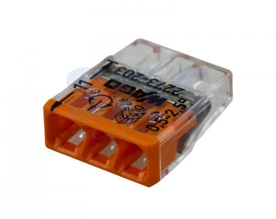 2273-203 Электромонтажные экспресс-клеммы (3*2.5мм2) 100шт WAGO