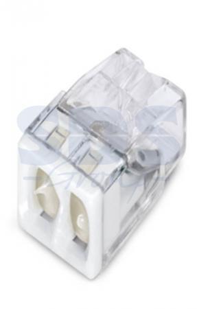 2273-242 Электромонтажные экспресс-клеммы (2*2.5мм2 с пастой) 100шт WAGO 20pcs wago type transparent wire connector 2 pole terminal block 400v 32a