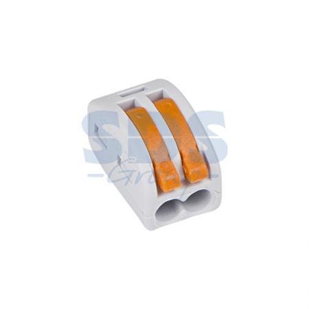 Универсальная многоразовая 2-проводная клемма REXANT (0,08-2,5 (4) мм?) 50шт.