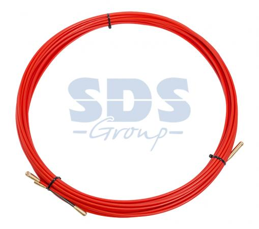 Протяжка кабельная (мини УЗК в бухте), стеклопруток, d=3,5мм, 15м КРАСНАЯ термоусадочная трубка d 2мм 15м мини бокс jtc 2035