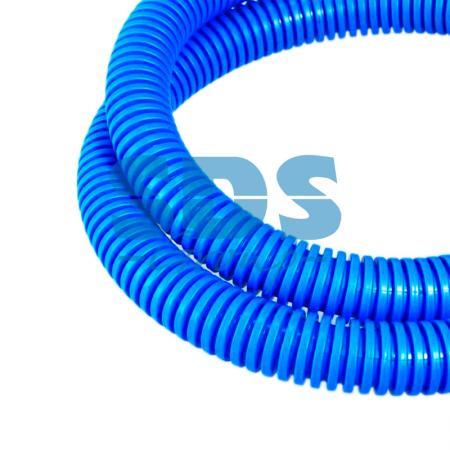 Труба гофрированная ПП лёгкая не распространяющая горение с/з синяя д32