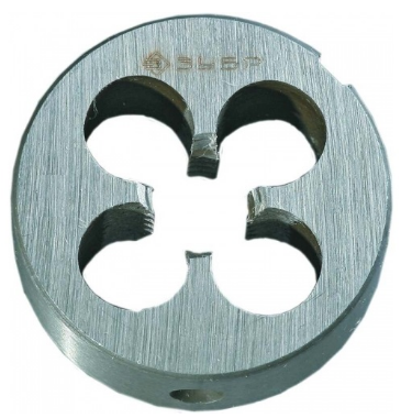 Плашка ЗУБР 4-28022-06-1. МАСТЕР круглая ручная М6x1.