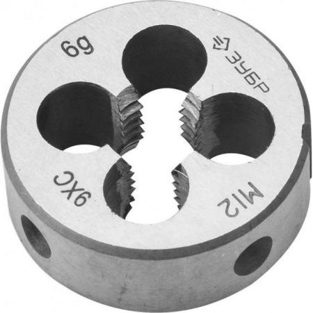 цена на Плашка ЗУБР 4-28022-12-1.75 МАСТЕР круглая ручная М12x1.75