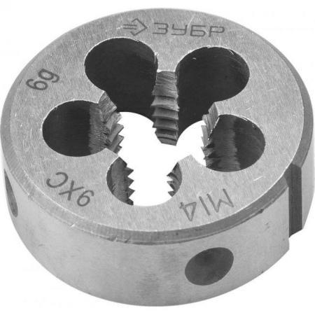 цена на Плашка ЗУБР 4-28022-14-1.5 МАСТЕР круглая ручная мелкий шаг М14x1.5