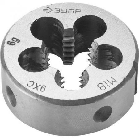 цена на Плашка ЗУБР 4-28022-18-2.0 МАСТЕР круглая ручная мелкий шаг М18x2.0