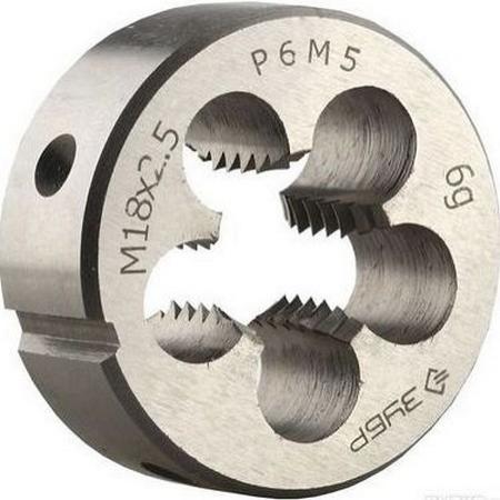 Плашка ЗУБР 4-28022-20-2.0 МАСТЕР круглая ручная мелкий шаг М20x2.0
