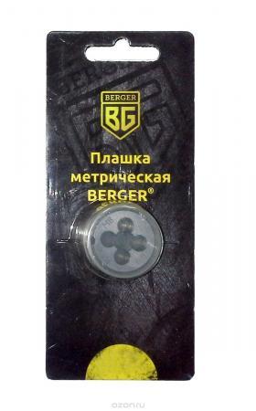 Плашка BERGER BG1002 метрическая м4х0.7мм плашка berger bg1009 метрическая м10х1 0мм
