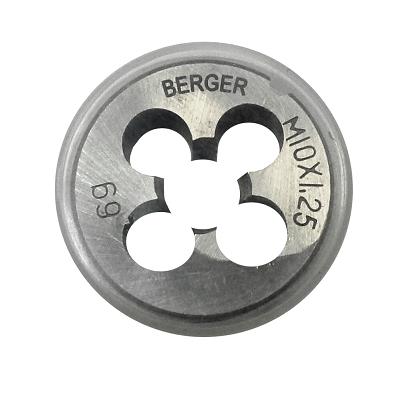 Плашка BERGER BG1008 метрическая м10х1.5мм плашка berger bg1009 метрическая м10х1 0мм