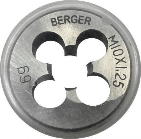 Плашка BERGER BG1012 метрическая м14х1.5мм плашка berger bg1009 метрическая м10х1 0мм