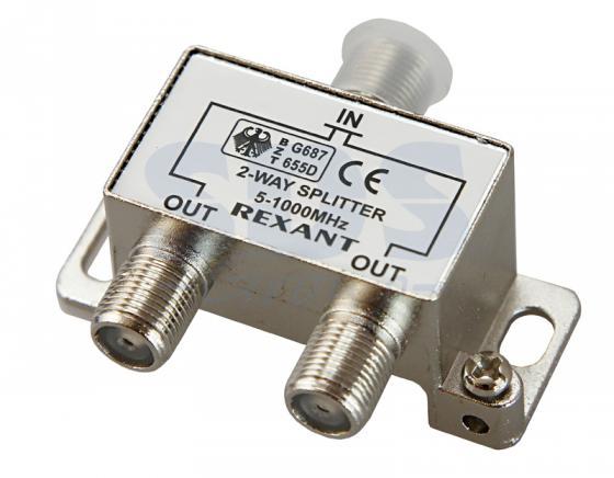 ДЕЛИТЕЛЬ ТВ х 2 под F разъём 5-1000 МГц REXANT