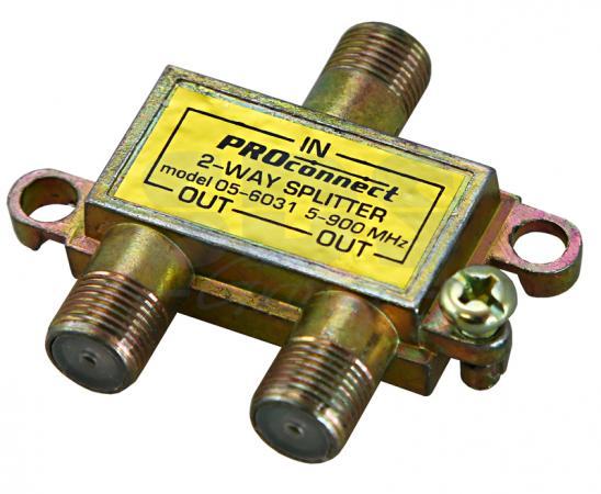 ДЕЛИТЕЛЬ ТВ х 2 под F разъём 5-900 МГц PROCONNECT Индивидуальная упаковка 1 шт 2 1x5 5mm f to 5 0x7 4mm male dc power plug connector adapter for dell hp laptop r179 drop shipping