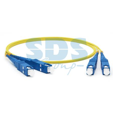 Патч-корд оптический соединительный (SM), 9/125 (OS2), SC/UPC-SC/UPC, (Duplex), LSZH, 2м hyperline fc d2 9 lc ur sc ur h 5m lszh yl патч корд волоконно оптический шнур sm 9 125 os2 lc upc sc upc duplex lszh 5 м