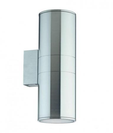 Уличный настенный светильник Ideal Lux Gun AP2 BIg Alluminio встраиваемый спот точечный светильник ideal lux swing fi1 alluminio 083162