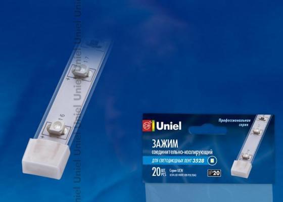 Изолирующий зажим для светодиодной ленты 3528 (06618) Uniel UCW-L08 WHITE 020 POLYBAG zhiyusun 68015e 020 touch screen sensor glass 164 127 6 5 inch industrial use 8line 164mm 127mm