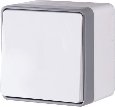 Выключатель одноклавишный влагозащищенный Gallant белый WL15-01-02 4690389102158