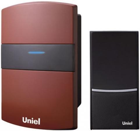 Звонок беспроводной (02237) Uniel UDB-001W-R1T1-32S-100M-RD звонок электрический беспроводной светозар любимая мелодия 58075