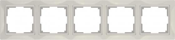 Рамка Snabb Basic на 5 постов слоновая кость WL03-Frame-04 4690389098789