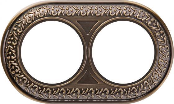Рамка Antik Runda на 2 поста бронза WL70-frame-02 4690389106514