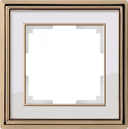Рамка Palacio на 1 пост золото/белый WL17-Frame-01 4690389103575