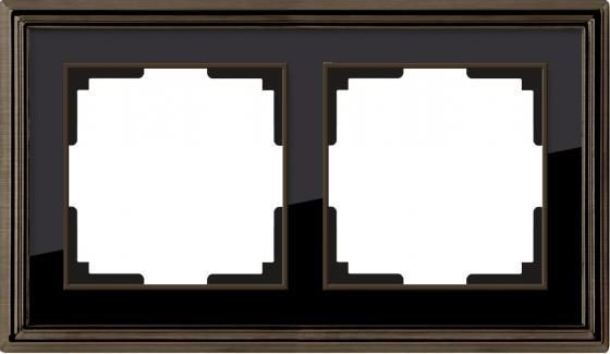 Рамка Palacio на 2 поста бронза/черный WL17-Frame-02 4690389103612