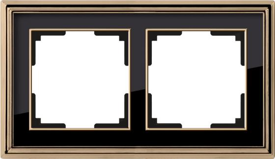 Рамка Palacio на 2 поста золото/черный WL17-Frame-02 4690389103636