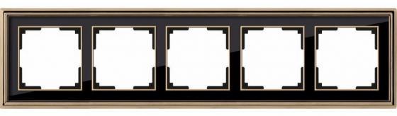 Рамка Palacio на 5 постов золото/черный WL17-Frame-05 4690389103780