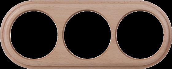 Рамка Legend на 3 поста светлый бук WL15-frame-03 4690389100963