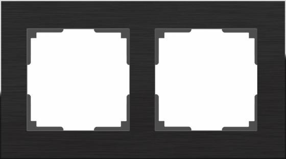 Рамка Aluminium на 2 поста алюминий черный WL11-Frame-02 4690389110450 рамка aluminium на 2 поста алюминий черный wl11 frame 02 4690389110450
