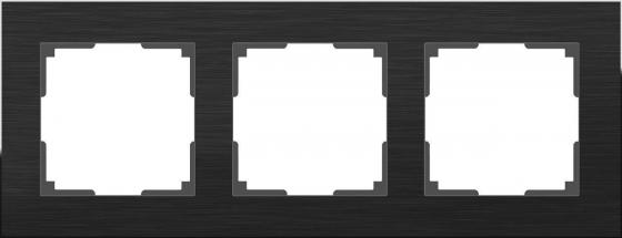 Рамка Aluminium на 3 поста алюминий черный WL11-Frame-03 4690389110467 рамка aluminium на 2 поста алюминий черный wl11 frame 02 4690389110450