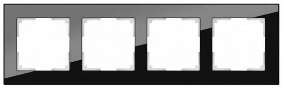 Рамка Aluminium на 4 поста алюминий черный WL11-Frame-04 4690389110474