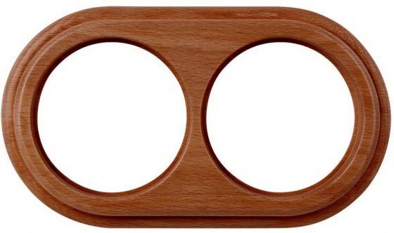 Рамка Legend на 2 поста итальянский орех WL15-frame-02 4690389100949