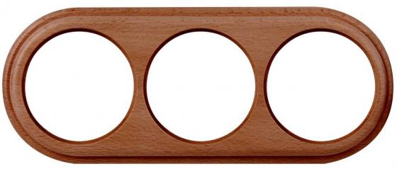Рамка Legend на 3 поста итальянский орех WL15-frame-03 4690389100970