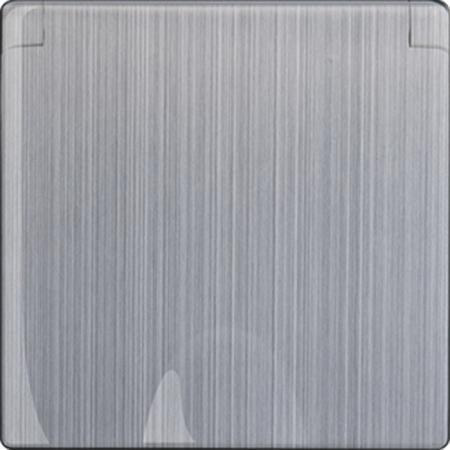 Накладка для розетки IP44 с крышкой глянцевый никель WL02-SKGSС-IP44-CP 4690389100420
