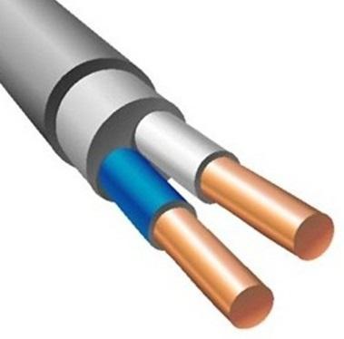 Кабель силовой NUM Калужский кабельный завод 2x2.5 мм круглый 100м серый ГОСТ
