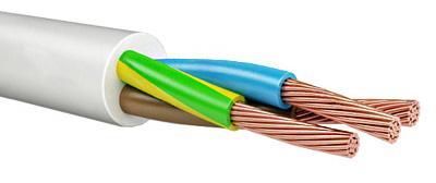 Провод соединительный ПВС Калужский кабельный завод 4x2.5 мм круглый 100м белый ГОСТ