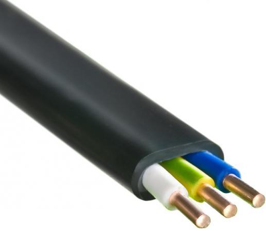Кабель силовой ВВГ-Пнг (А) Калужский кабельный завод 3x2.5 мм плоский 100м черный ГОСТ ВВГ-Пнг(А)-LS цена