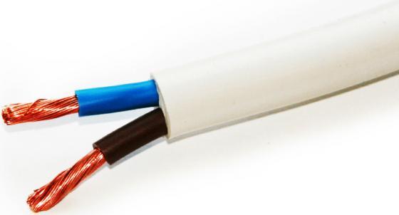 Провод соединительный ПВС Калужский кабельный завод 2x2.5 мм круглый 100м белый ГОСТ